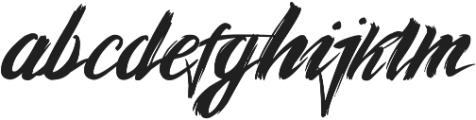 graffity otf (400) Font LOWERCASE