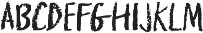 griffonage ttf (400) Font LOWERCASE