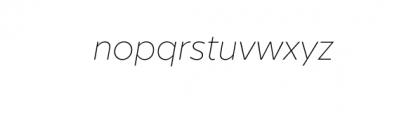 Graible Nova-ThinItalic.otf Font LOWERCASE