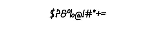 GrandioseIncisive.ttf Font OTHER CHARS