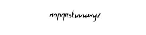 GrandioseIncisive.ttf Font LOWERCASE