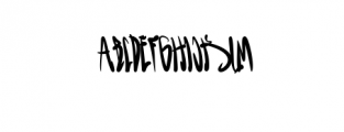 GreenBlood.otf Font LOWERCASE