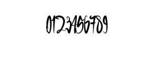 GreenBlood.ttf Font OTHER CHARS