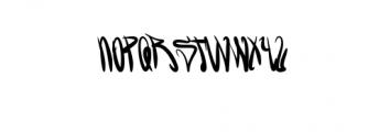 GreenBlood.ttf Font LOWERCASE