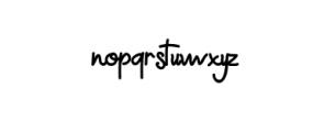 Greenaila.otf Font LOWERCASE