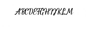 Greenlight Script.ttf Font UPPERCASE