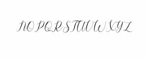 Gresya Script Font UPPERCASE