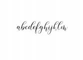 Gresya Script Font LOWERCASE