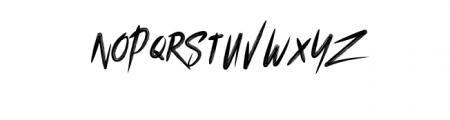grooz zomera.ttf) Font LOWERCASE