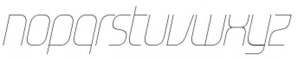 Gravel Light Italic Font LOWERCASE