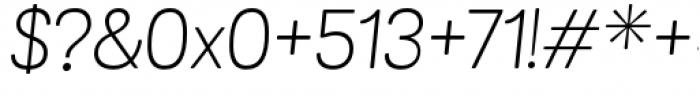 Grota Sans Rounded Alt Light Italic Font OTHER CHARS