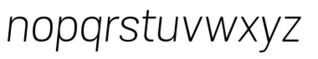 Grota Sans Rounded Alt Light Italic Font LOWERCASE