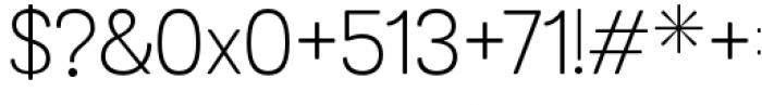 Grota Sans Rounded Alt Light Font OTHER CHARS