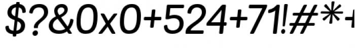 Grota Sans Rounded Alt Medium Italic Font OTHER CHARS
