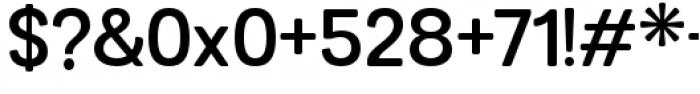 Grota Sans Rounded Alt Semi Bold Font OTHER CHARS