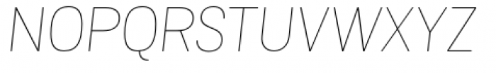 Grota Sans Rounded Alt Thin Italic Font UPPERCASE