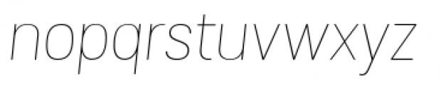 Grota Sans Rounded Alt Thin Italic Font LOWERCASE