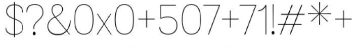 Grota Sans Rounded Alt Thin Font OTHER CHARS