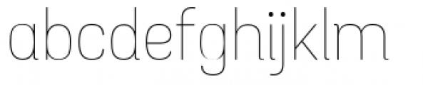 Grota Sans Rounded Alt Thin Font LOWERCASE