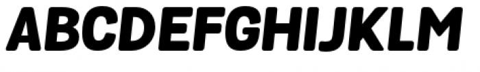Grota Sans Rounded Heavy Italic Font UPPERCASE