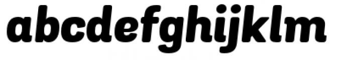 Grota Sans Rounded Heavy Italic Font LOWERCASE