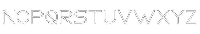 GRACETIANS Stroke Font UPPERCASE