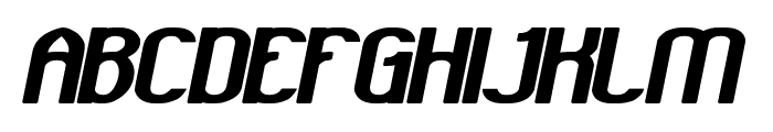 GRAND PRIX Bold Italic Font UPPERCASE