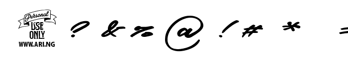 Graced Script PERSONAL USE Font OTHER CHARS