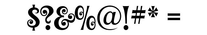 Graceful Mazurka Font OTHER CHARS