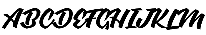 Graceland Personal Use  Font UPPERCASE