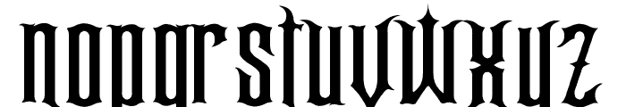 Gracey's Curse Font LOWERCASE