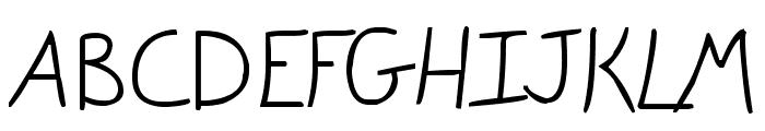 Gracie Light Font UPPERCASE