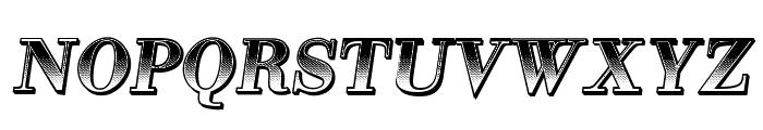 Gradientico Italic Font UPPERCASE
