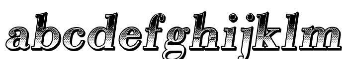 Gradientico Italic Font LOWERCASE