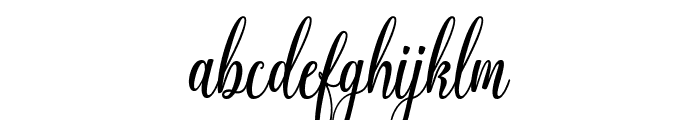 Graf Call free Regular Font LOWERCASE