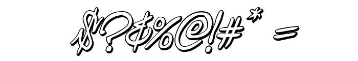Graffiti Street 3D Italic Font OTHER CHARS