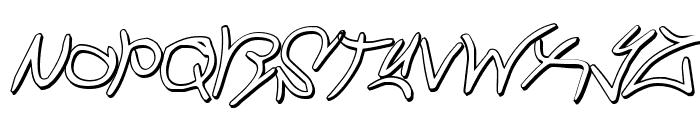 Graffiti Street 3D Italic Font LOWERCASE