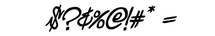 Graffiti Street Bold Italic Font OTHER CHARS