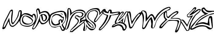 Graffiti Street Compact Italic Font UPPERCASE