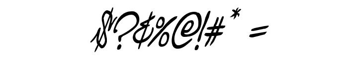 Graffiti Street Condensed Italic Font OTHER CHARS