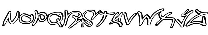 Graffiti Street Expanded Italic Font UPPERCASE