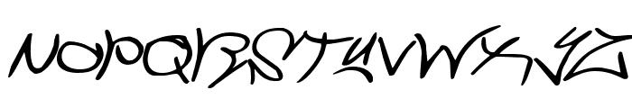 Graffiti Street Expanded Italic Font LOWERCASE