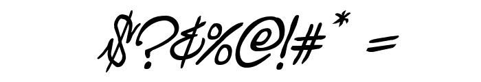 Graffiti Street Italic Font OTHER CHARS