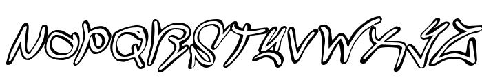 Graffiti Street Italic Font UPPERCASE