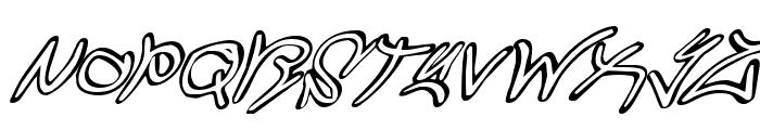 Graffiti Street Super-Italic Font UPPERCASE