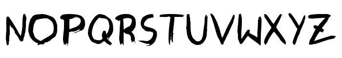 GraffitiPaintBrush Font LOWERCASE