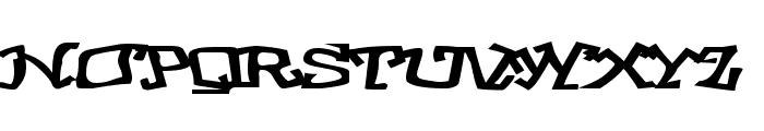 GraffitiThree Font UPPERCASE