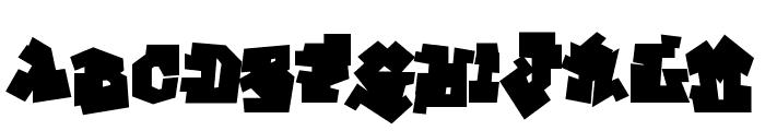 GraffitiTreatBack-Regular Font LOWERCASE