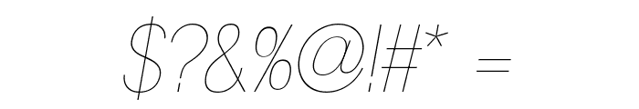 Gram Italic Font OTHER CHARS