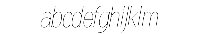 Gram Italic Font LOWERCASE